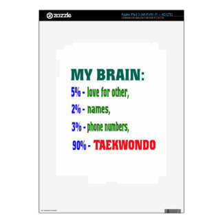 My Brain 90 % Taekwondo. Decal For iPad 3