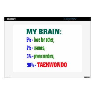 My Brain 90 % Taekwondo. Laptop Decals