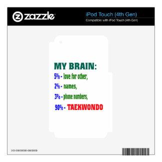 My Brain 90 % Taekwondo. Skin For iPod Touch 4G