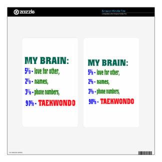 My Brain 90 % Taekwondo. Kindle Fire Skin