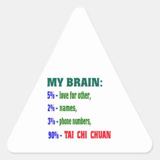 My Brain 90 % Tai Chi Chuan. Triangle Sticker