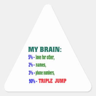 My Brain 90 % Triple Jump. Triangle Sticker