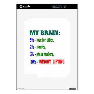 My Brain 90 % Weight Lifting iPad 2 Decals