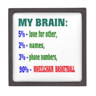 My Brain 90 % Wheelchair basketball. Premium Jewelry Boxes