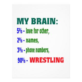 My Brain 90 % Wrestling. Letterhead