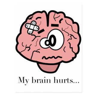 My Brain Hurts Postcard