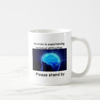 My brain is experiencing technical difficulties coffee mug