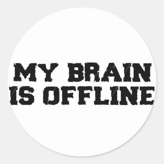 My Brain Is Offline Stickers