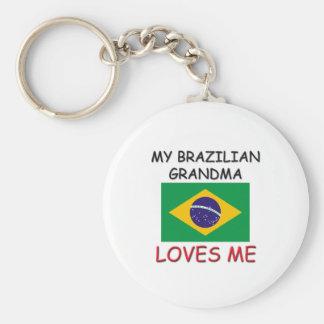 My Brazilian Grandma Loves Me Basic Round Button Keychain