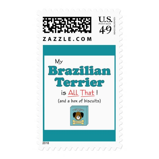 My Brazilian Terrier is All That! Stamps