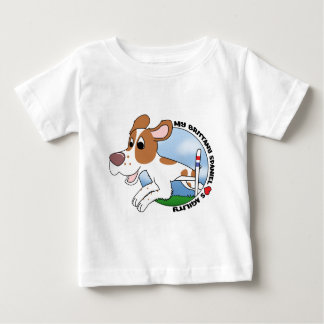 My Brittany Spaniel Loves Agility Baby's T-shirt