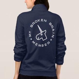 My Broken Brain Member Fleece Dark Jacket
