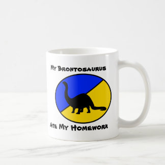 My Brontosaurus Ate My Homework Classic White Coffee Mug