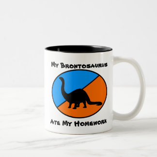 My Brontosaurus Ate My Homework Two-Tone Coffee Mug