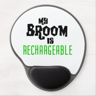 My Broom is Rechargeable Gel Mouse Pad