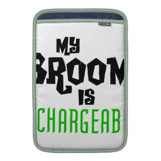 My Broom is Rechargeable MacBook Sleeve