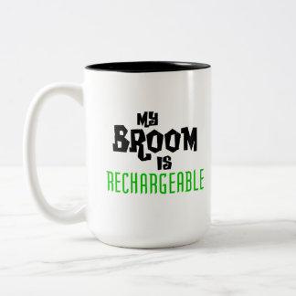 My Broom is Rechargeable Two-Tone Coffee Mug