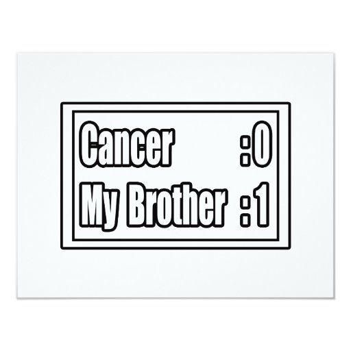 My Brother Beat Cancer (Scoreboard) 4.25x5.5 Paper Invitation Card