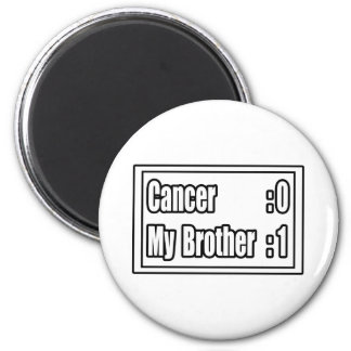 My Brother Beat Cancer (Scoreboard) Refrigerator Magnet