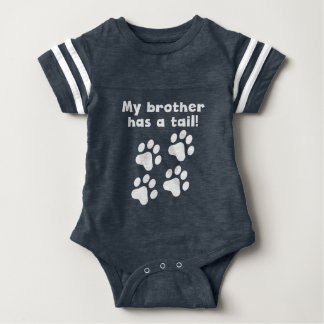 My Brother Has A Tail Baby Bodysuit