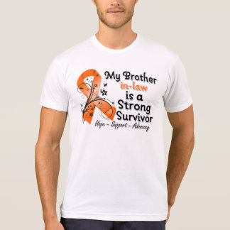 My Brother-in-Law is a Strong Survivor Orange Ribb T-Shirt