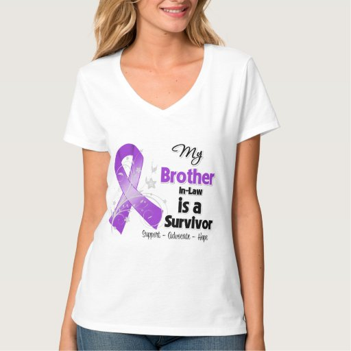 My Brother-in-Law is a Survivor Purple Ribbon Tees