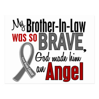 My Brother-In-Law Is An Angel 1 Brain Cancer Post Cards