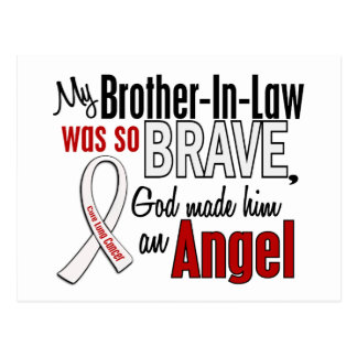 My Brother-In-Law Is An Angel Lung Cancer Postcard