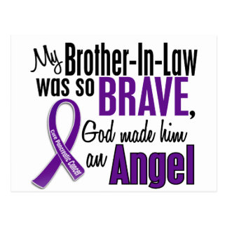 My Brother-In-Law Is An Angel Pancreatic Cancer Postcard