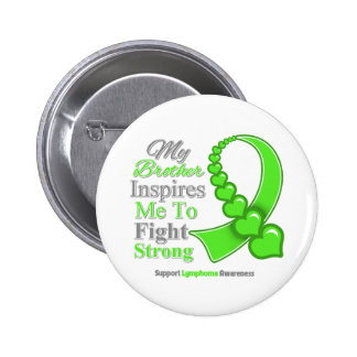My Brother Inspires Me to Fight Strong Lymphoma 2 Inch Round Button
