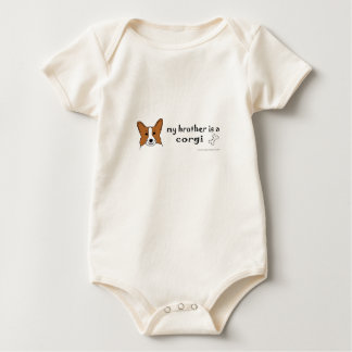 my brother is a corgi more breeds baby bodysuits