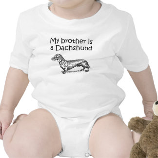 My Brother Is A Dachshund Romper