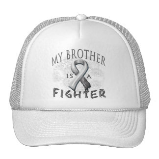 My Brother Is A Fighter Grey Trucker Hat