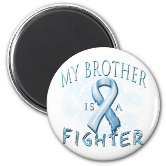 My Brother is a Fighter Light Blue Magnet