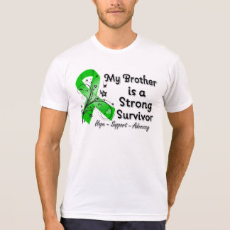 My Brother is a Strong Survivor Green Ribbon Tee Shirt