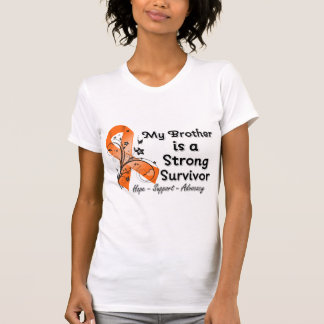 My Brother is a Strong Survivor Orange Ribbon T-Shirt