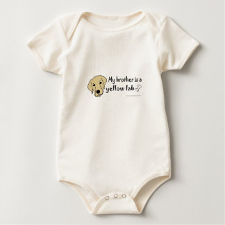 my brother is a yellow lab baby bodysuit