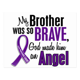 My Brother Is An Angel Pancreatic Cancer Postcard
