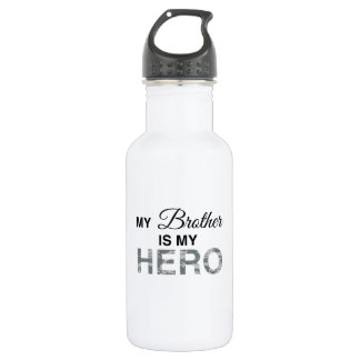 My Brother is my Hero Digital Camouflage Water Bottle