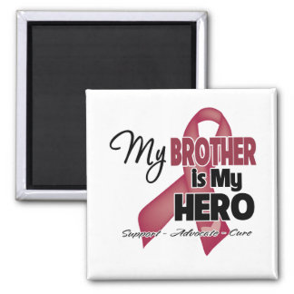 My Brother is My Hero - Multiple Myeloma 2 Inch Square Magnet