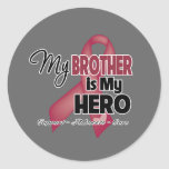 My Brother is My Hero - Multiple Myeloma Round Stickers