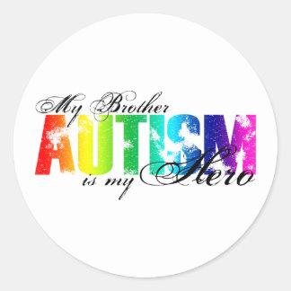 My Brother My Hero - Autism Classic Round Sticker
