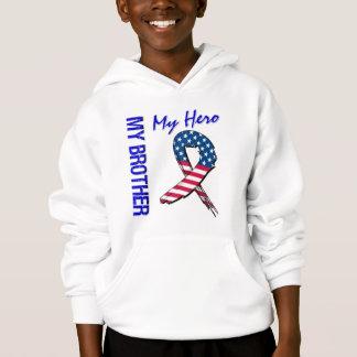 My Brother My Hero Patriotic Grunge Ribbon Hoodie