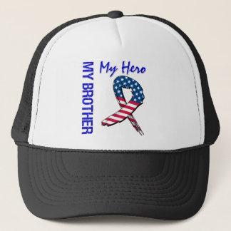 My Brother My Hero Patriotic Grunge Ribbon Trucker Hat