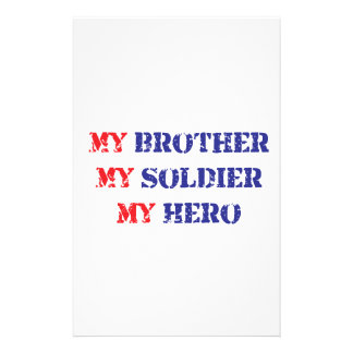 My brother, my soldier, my hero stationery