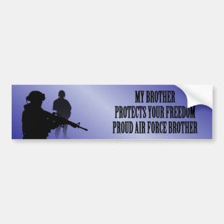 My Brother Protects Your Freedom (Air Force Brothe Bumper Sticker