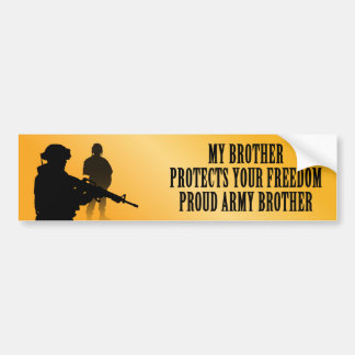 My Brother Protects Your Freedom (Army Brother) Car Bumper Sticker