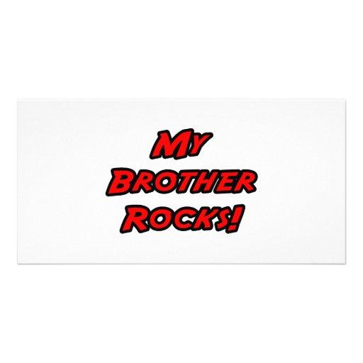 My Brother Rocks Customized Photo Card