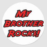 My Brother Rocks Round Stickers