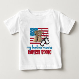 My Brother wears combat boots Baby T-Shirt
